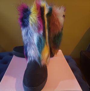 Penny loves kenny faux fur colorful  winter boots